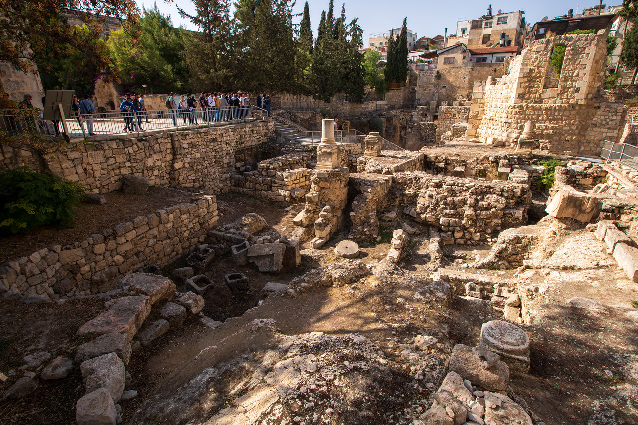 Pools Of Bethesda Near the FIrst Station of the Via Dolorosa