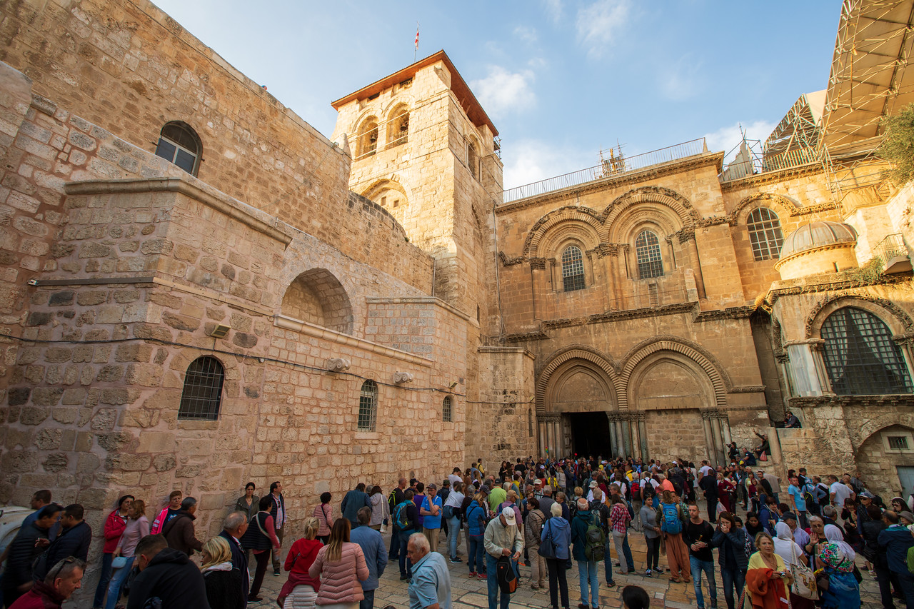 Entrance to The Church Of The Holy Sepulchre at the end of the Via Dolorosa