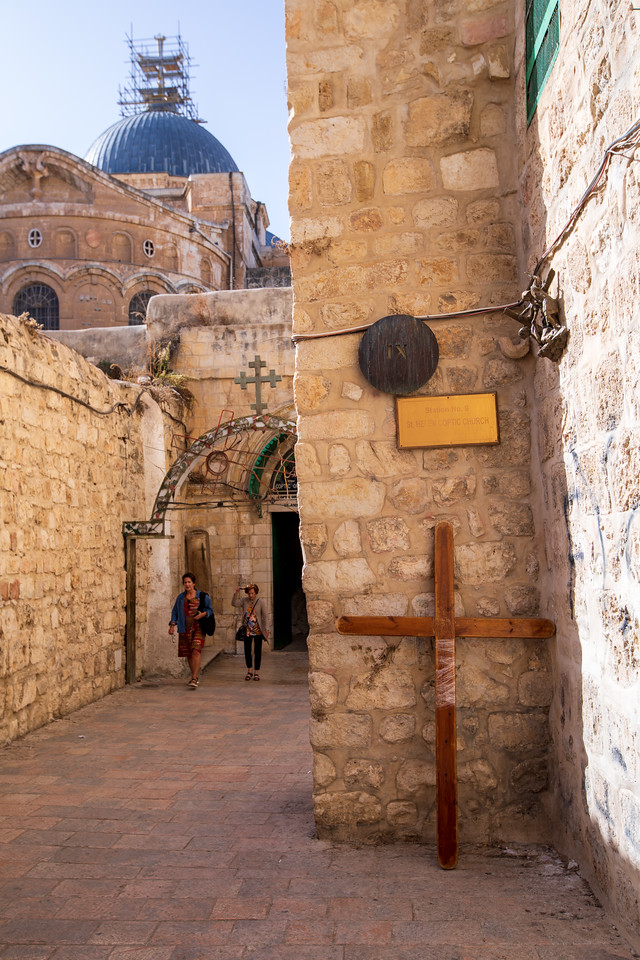 9th Station of the Cross on the Via Dolorosa