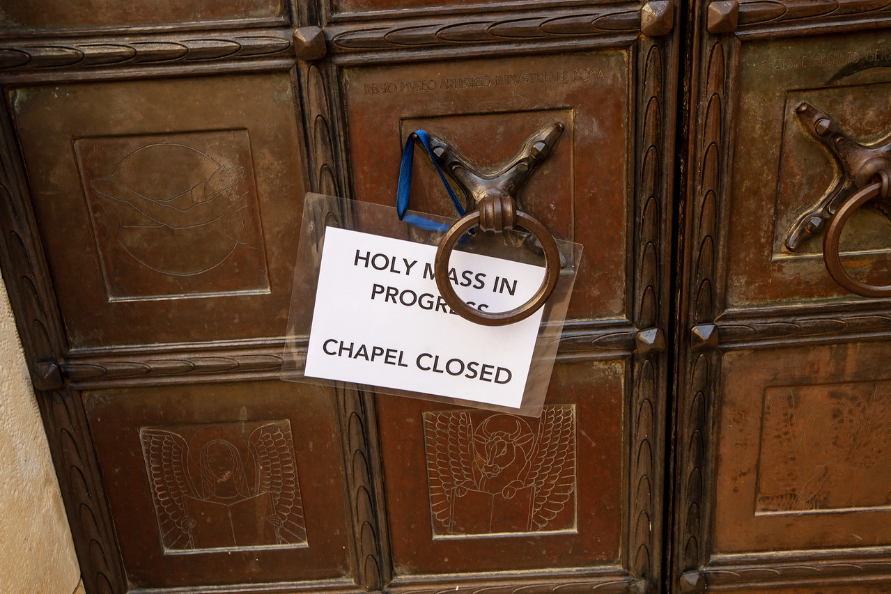 Chapel Closed Because It Is Reserved For Mass
