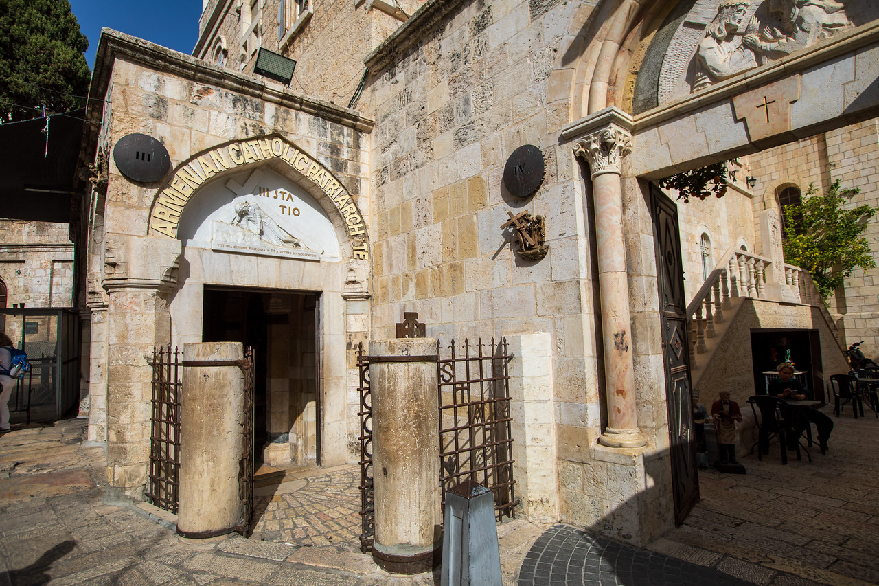 3rd and 4th Station of the Cross on the via Dolorosa