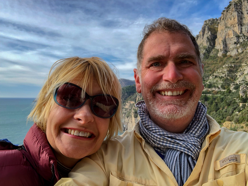 Jonathan and Sarah Selfie on the Amalfi Coast
