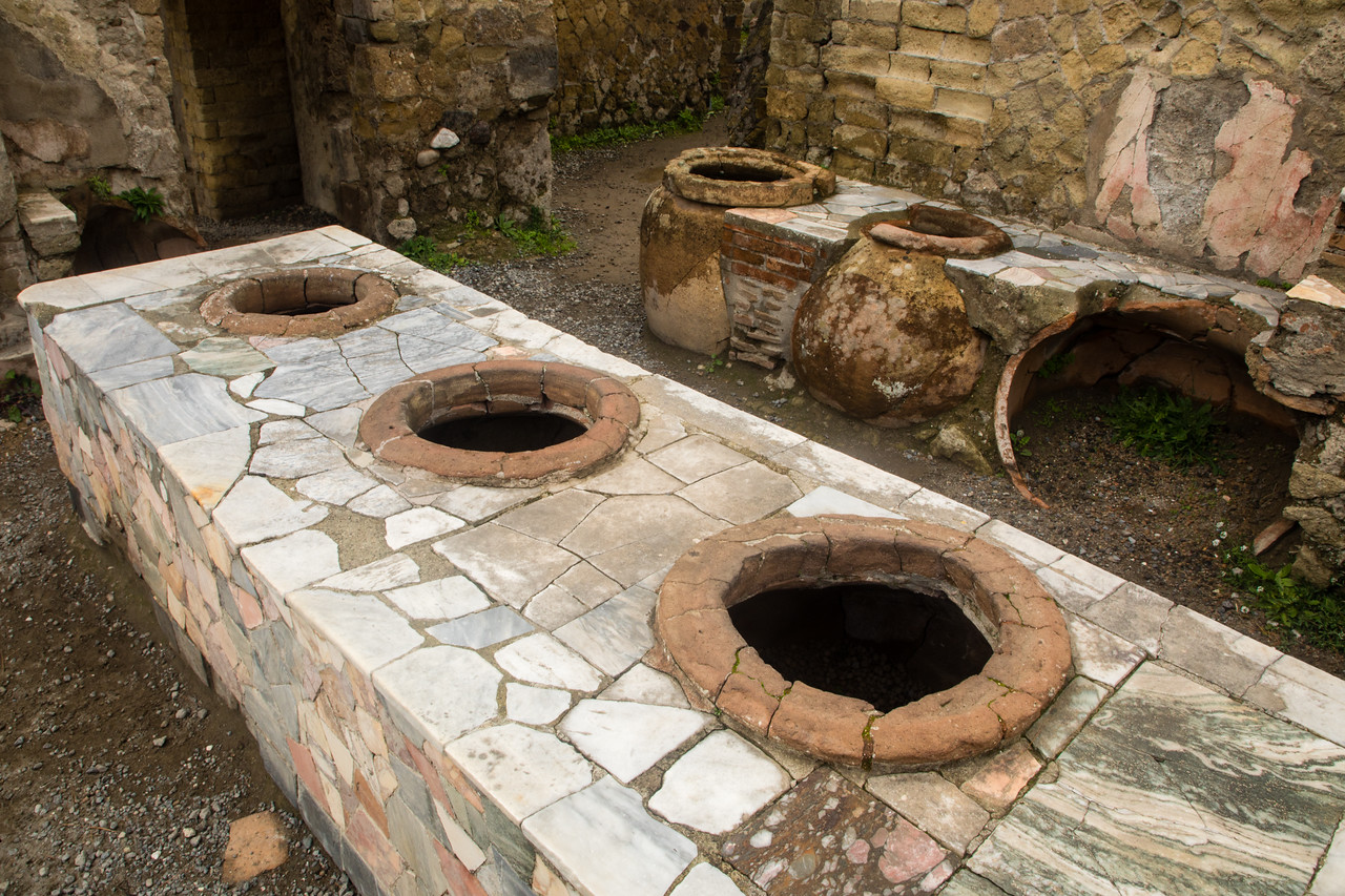 The Ruins of a Restaurant in Herculaneum