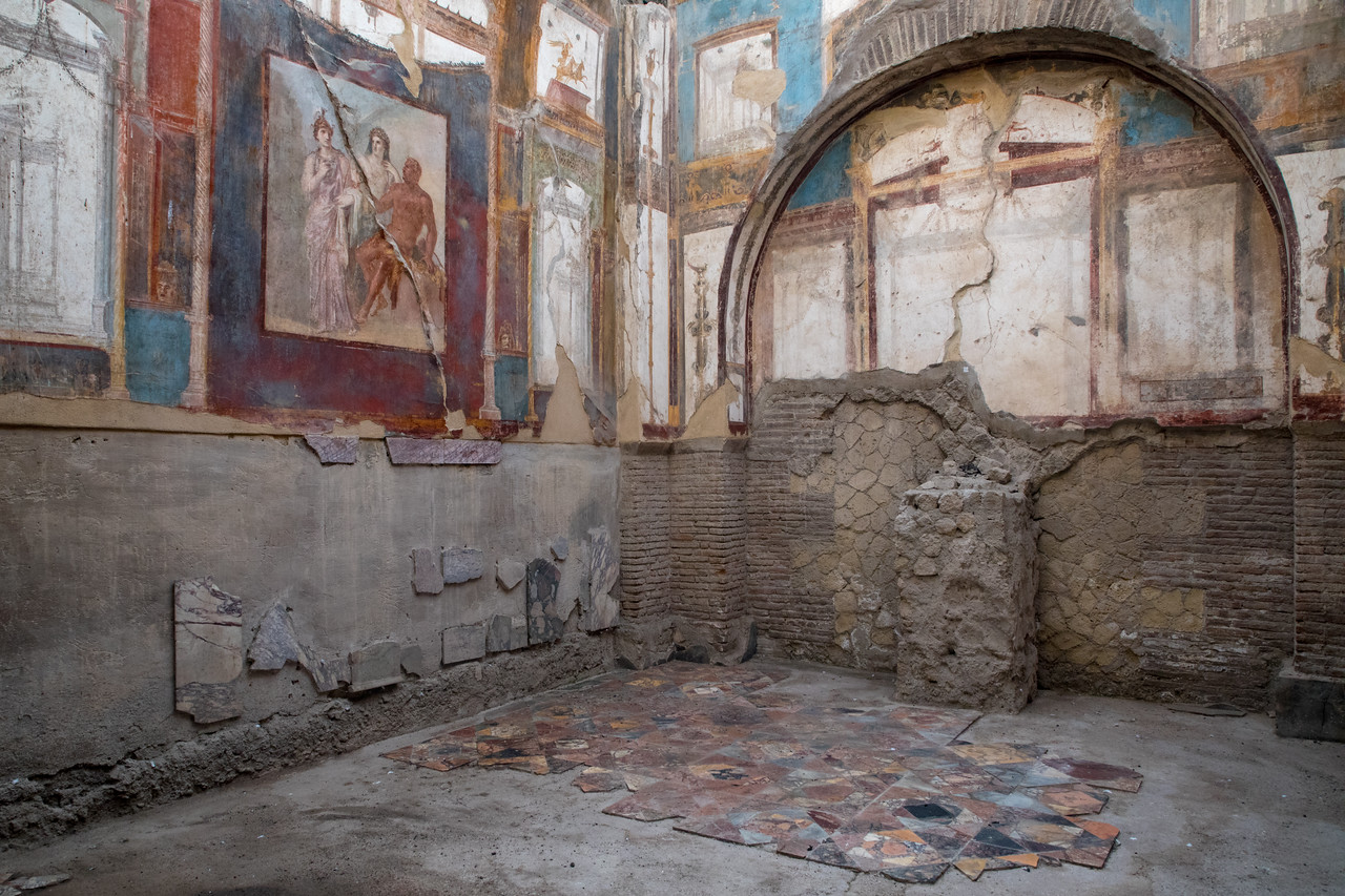 Murals on the Walls In Herculaneum