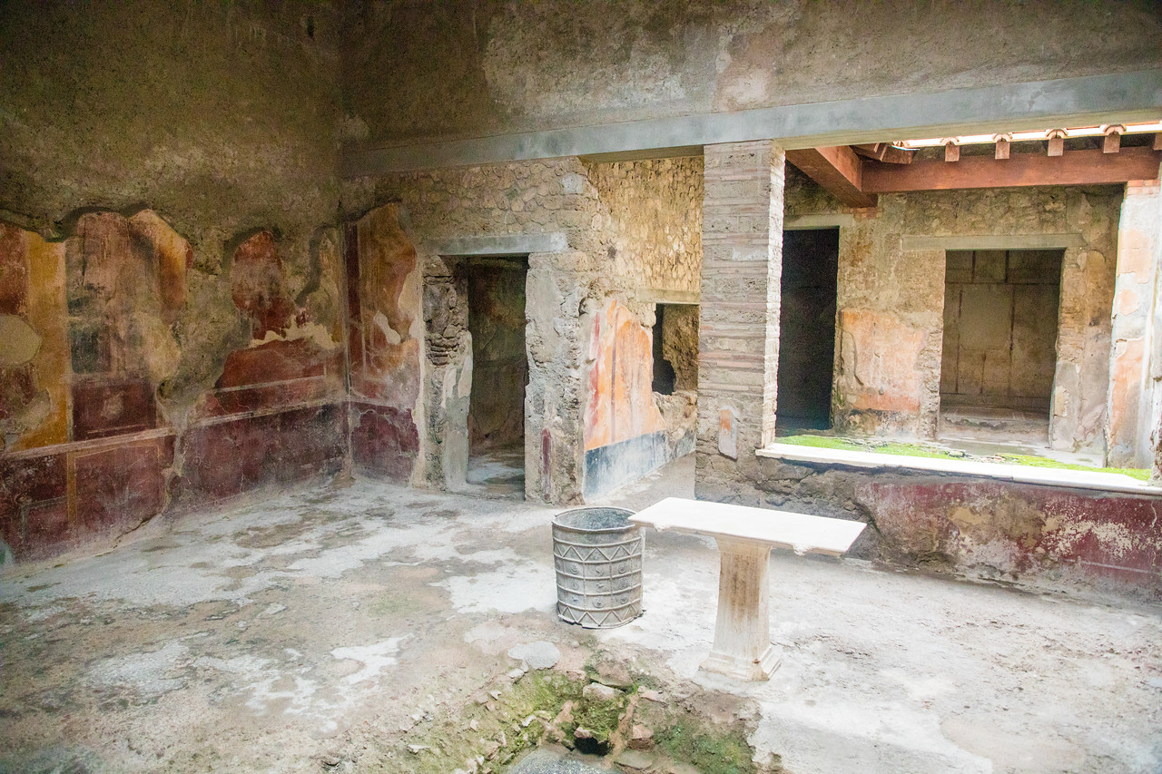 Some of the Houses at Pompeii Felt Not Far From Move-in Ready