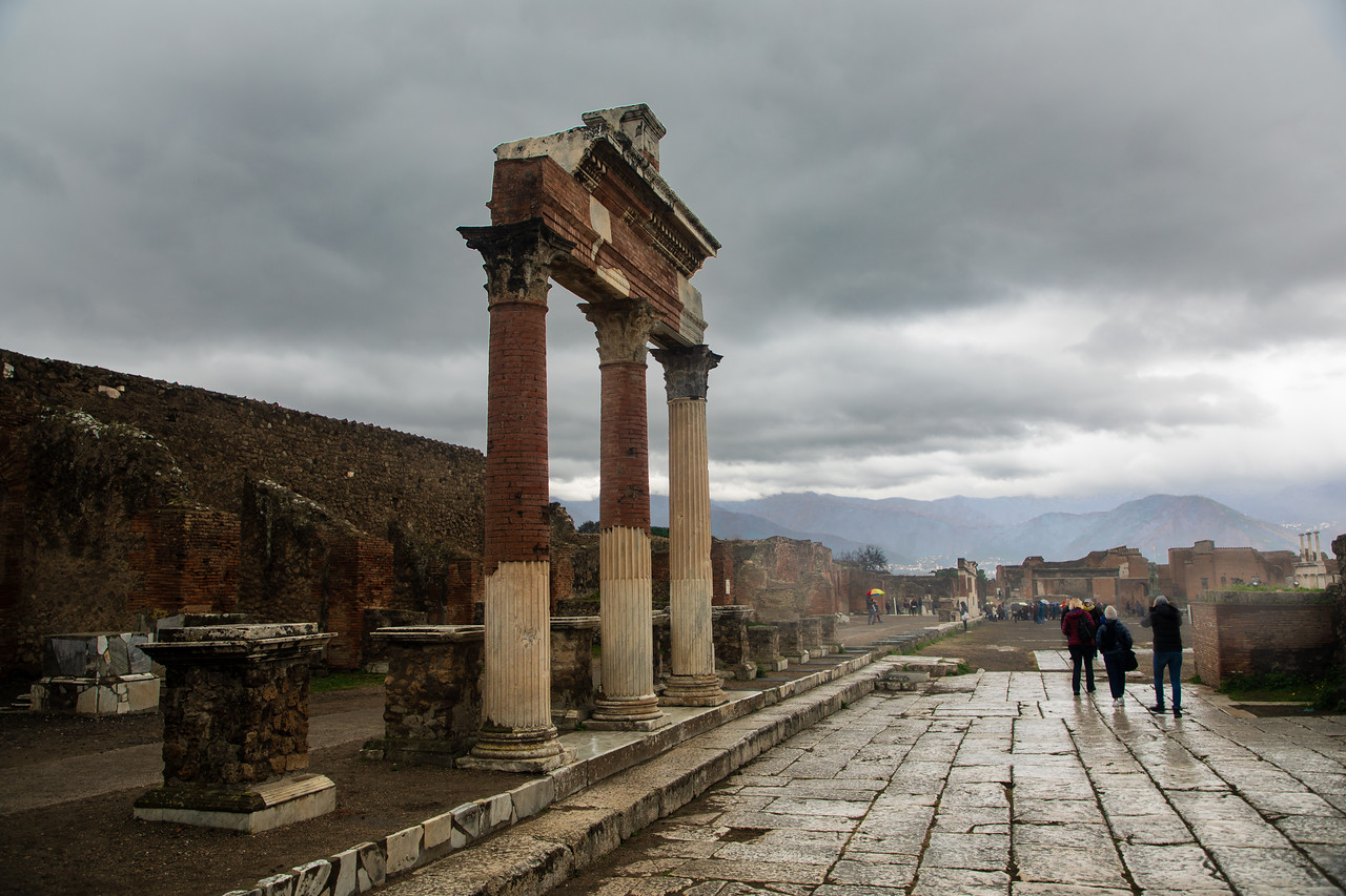 Picture of Pompeii on a Rainy Day