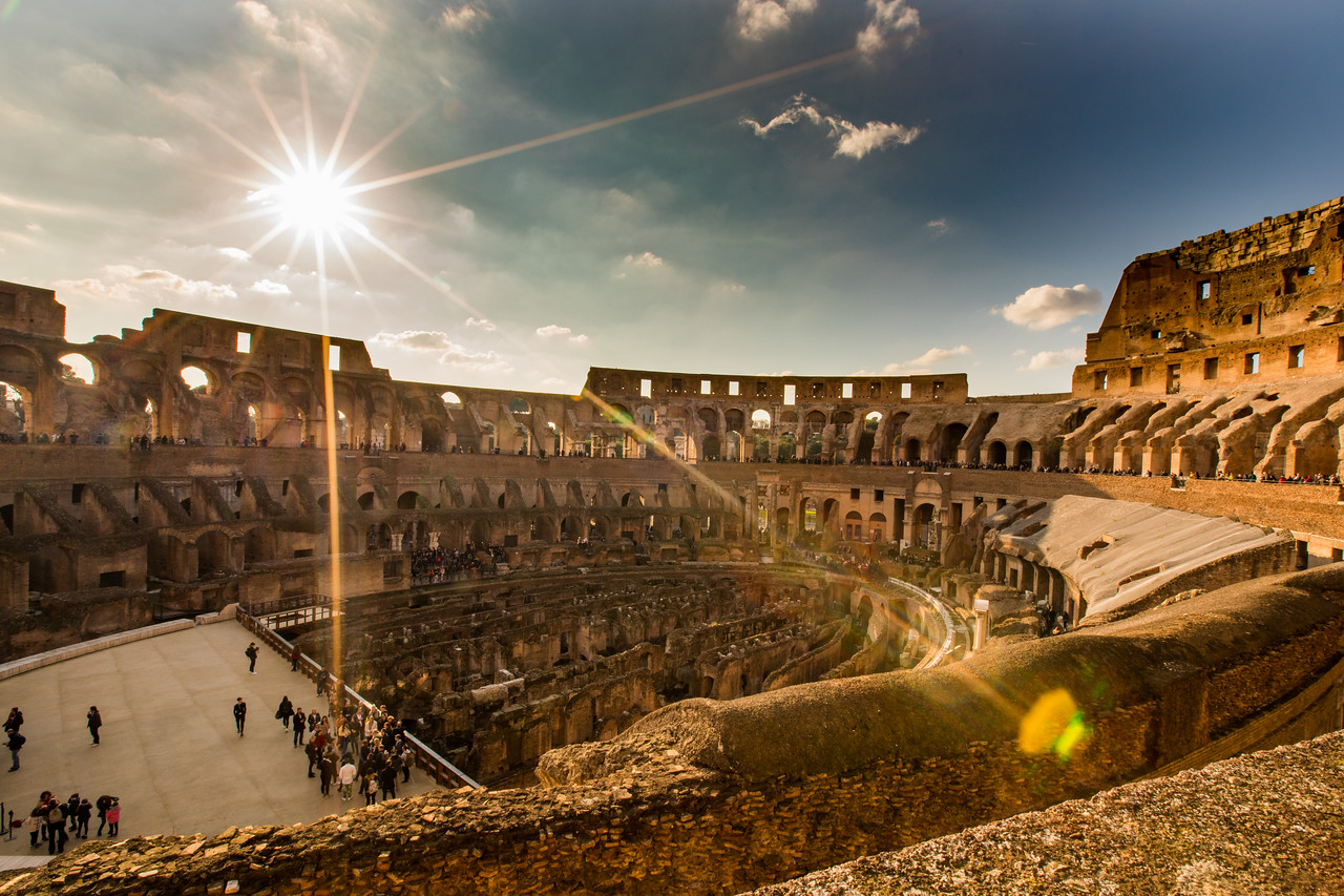 Interior Photo of the Colosseum in Rome