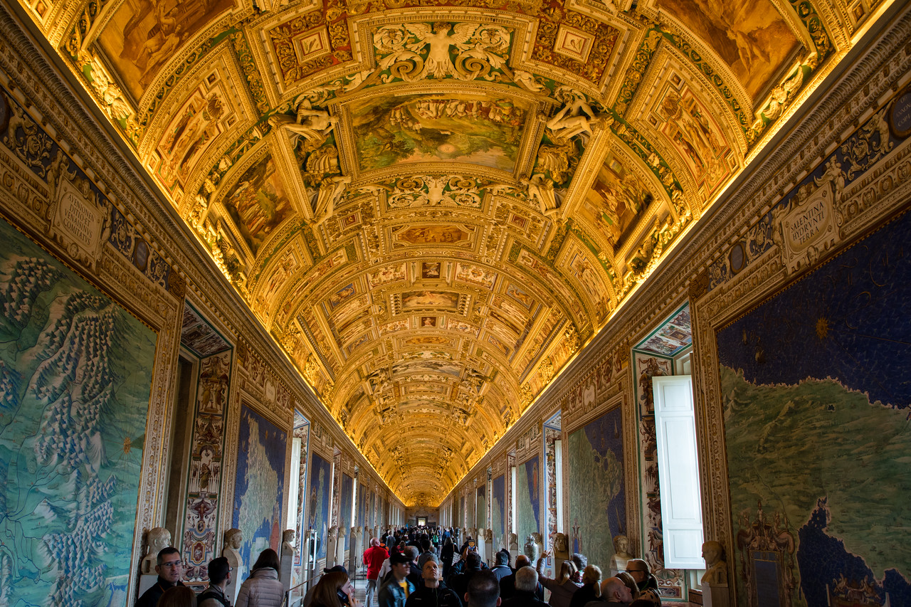 Gallery of the Geographical Maps in the Vatican Museum