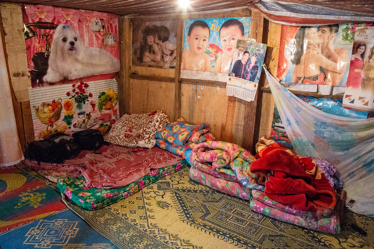 The Sleeping / Dining/ Lounge / Parlor Room in a Hill Tribe Home