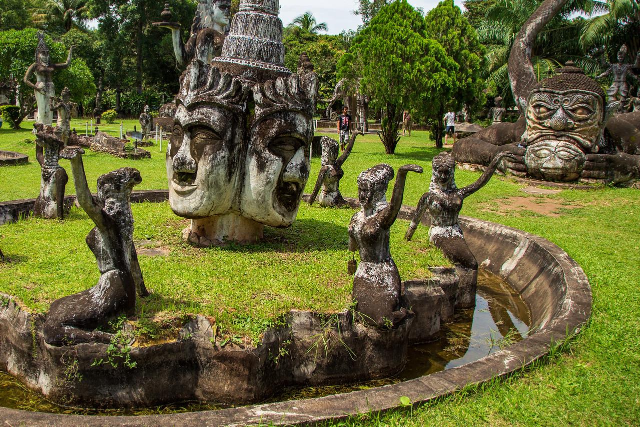 Buddhas and Dancers at Vientiane Buddha Park