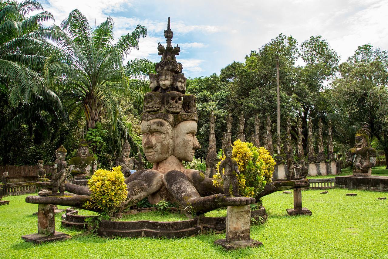 Sculpture at Buddha Park in Vientiane