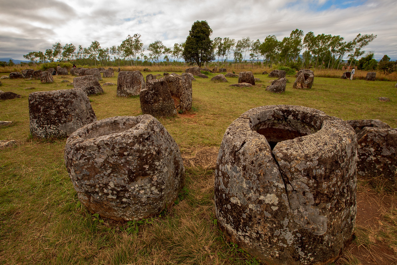 Image of the Plain of Jars in Laos