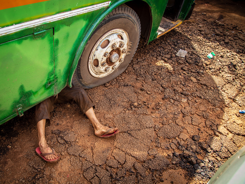 Bus Breakdown in Laos