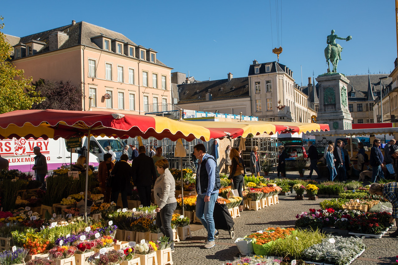 Flower Market in Luxembourg