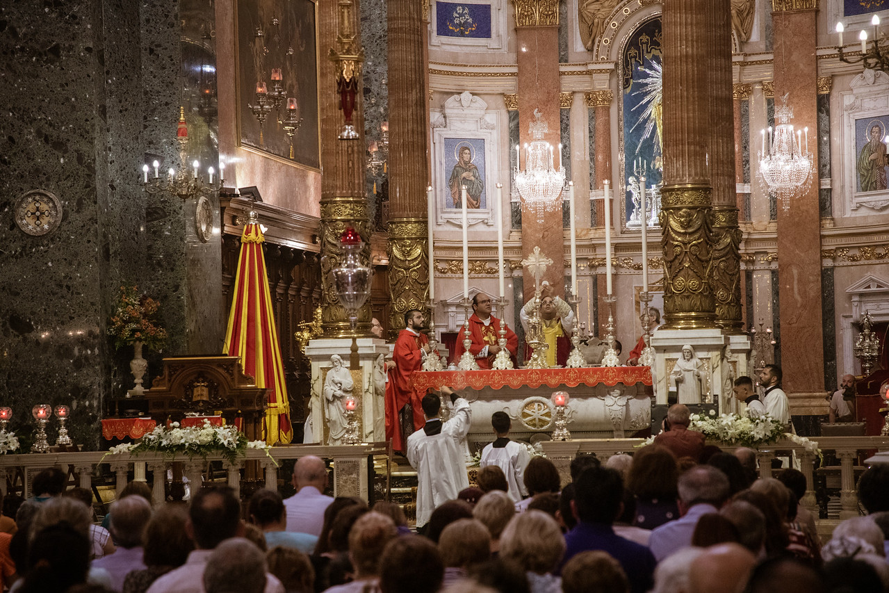 Inside the Basilica of Senglea For The Feast Of Vows