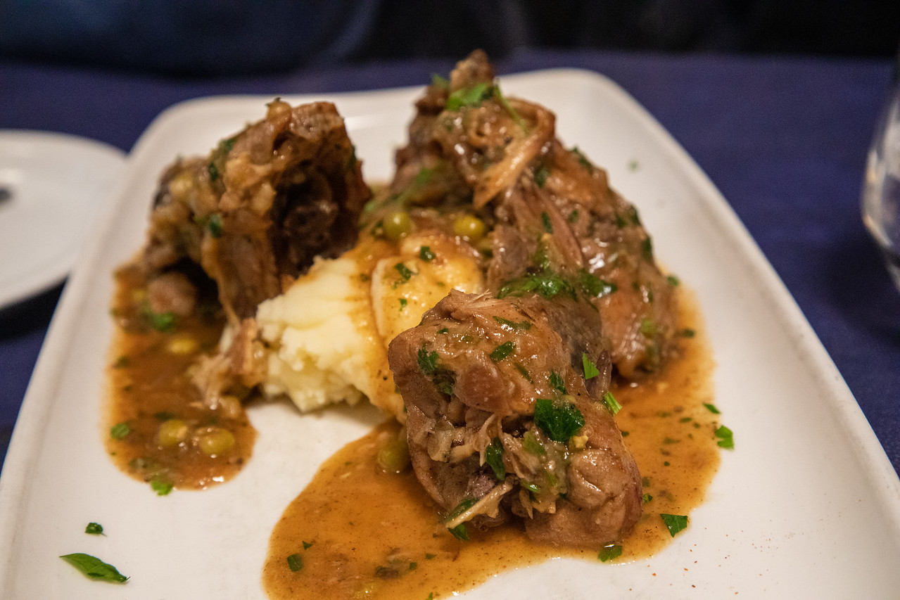 Malta Food Favorite Fenek Moqli (Rabbit Served With Mashed Potatoes)