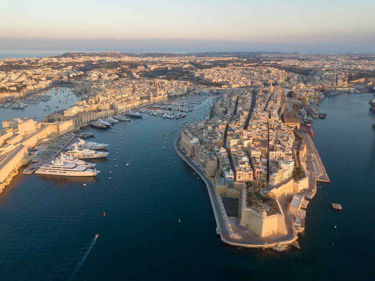 Drone Photograph of Senglea And The Three Cities