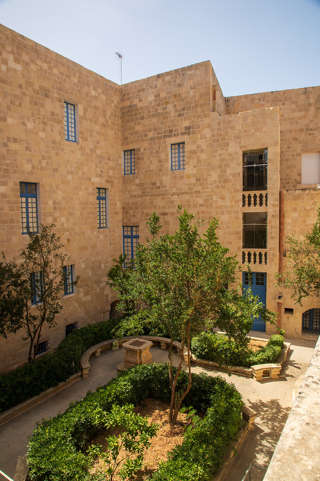 Interior Courtyard At The Inquisitors Palace in Malta