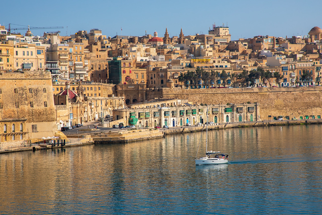 View of Valletta From Senglea in the Three Cities