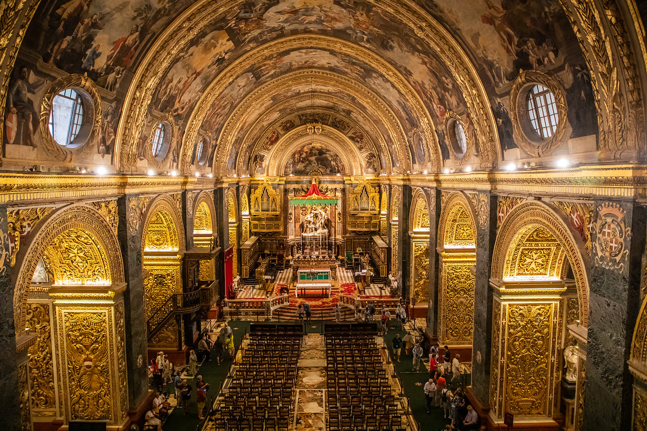 Interior of Saint John's Co-Cathedral in Valletta Malta