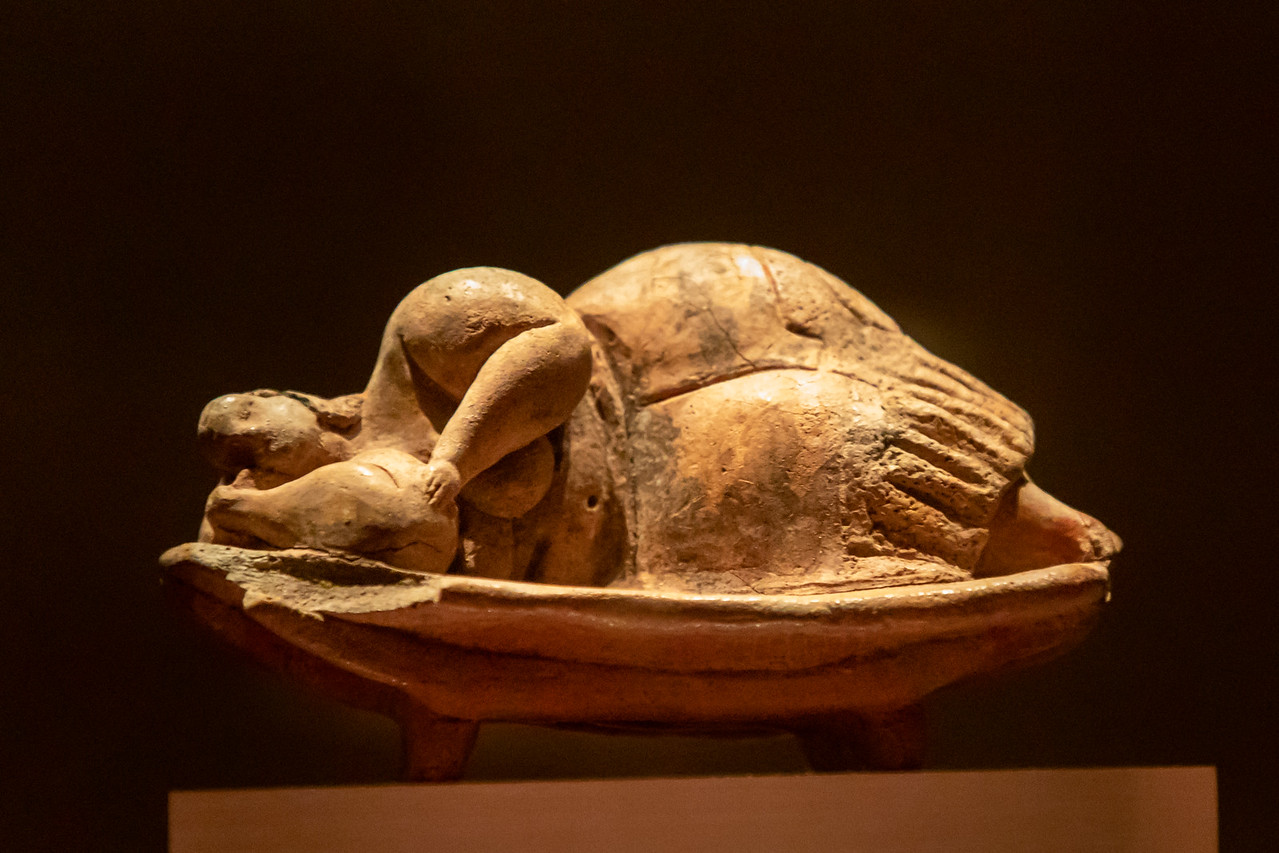 'Sleeping Lady' (from the Ħal Saflieni Hypogeum) at the Archaeology Museum in Valletta, Malta