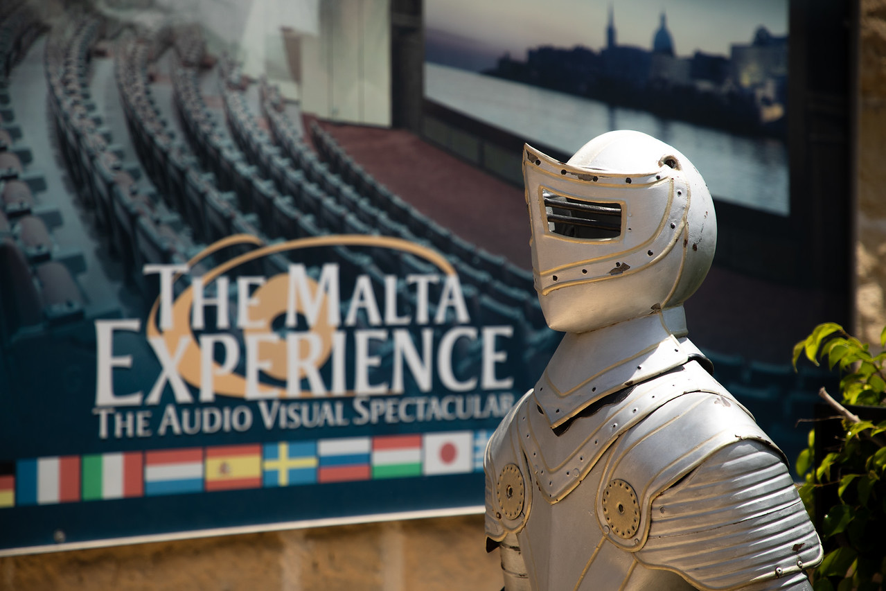 A Knight of Malta Greets You At The Entrance to The Malta Experience