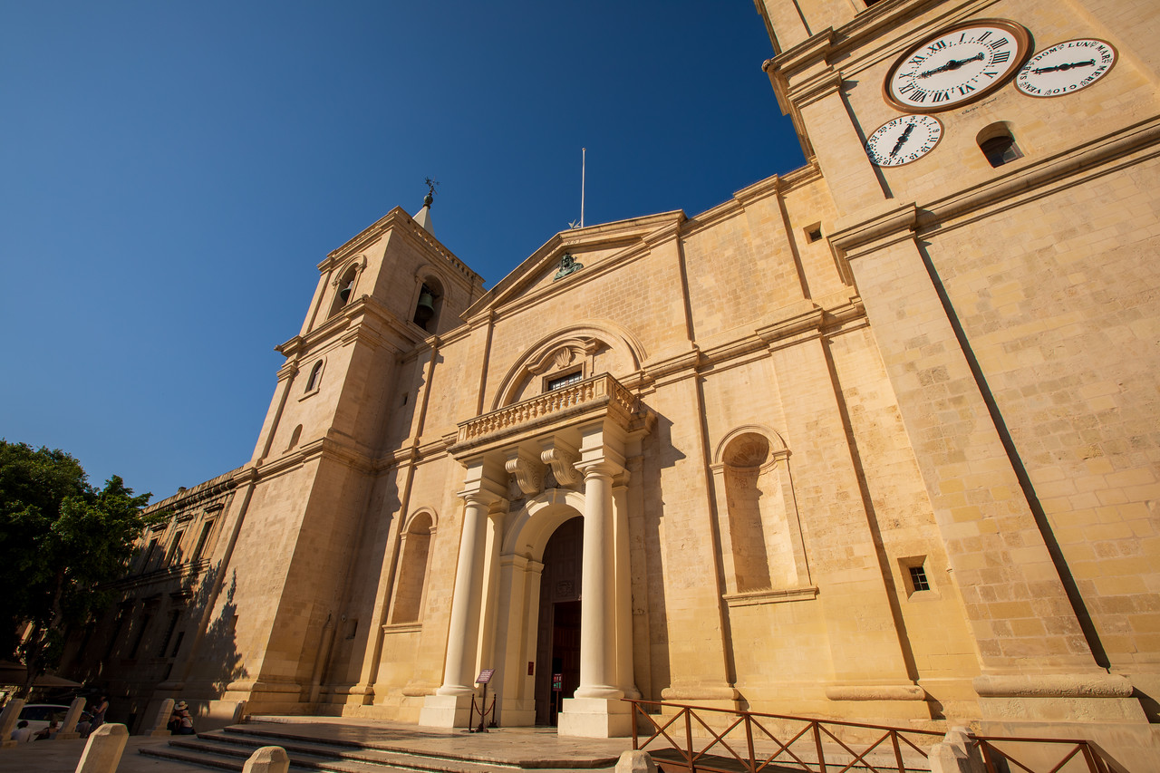 The Exterior of St John's Co-Cathedral in Valletta Malta
