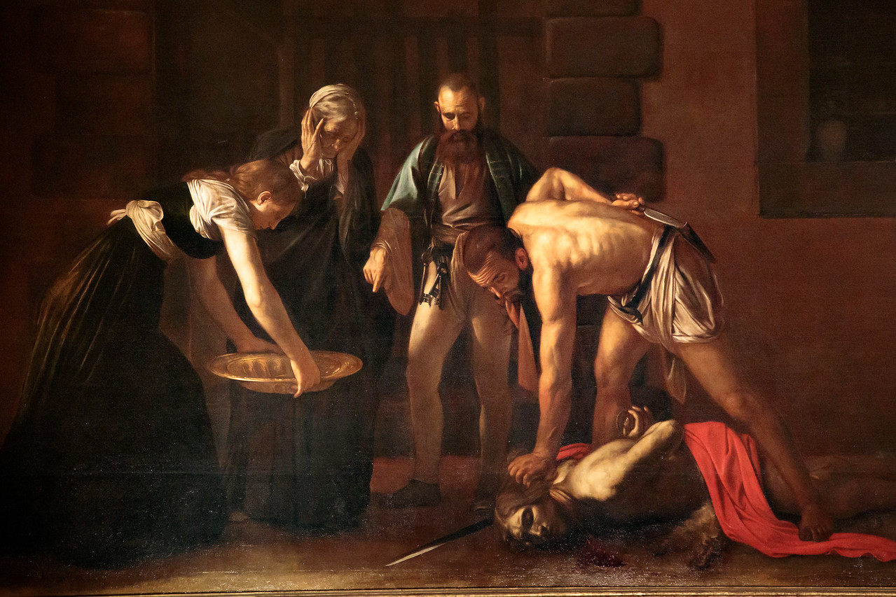 Detail of Caravaggio's Masterpiece 'Beheading of St. John the Baptist'
