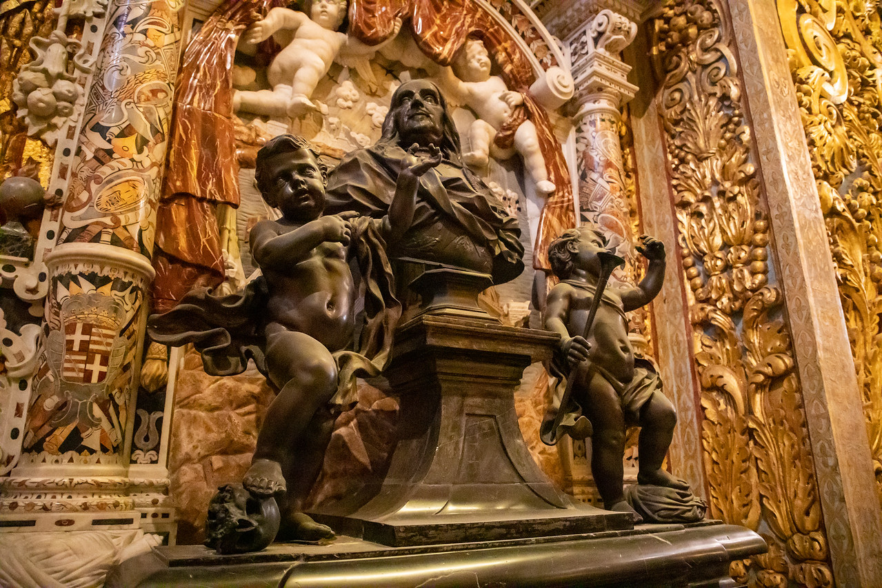 Baroque Sculptures Inside The Co-Cathedral