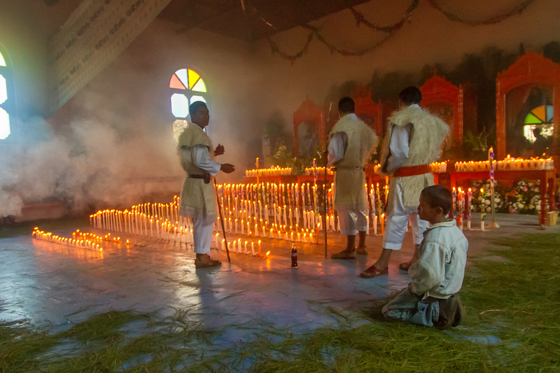 Traditional Indigenous Tzotzil Chamulan Worship Service in Nichnamtic Chiapas, Mexico