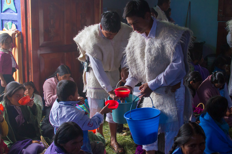 Traditional Indigenous Tzotzil Chamulan Worship Service in Nichnamtic Chiapas, Mexico