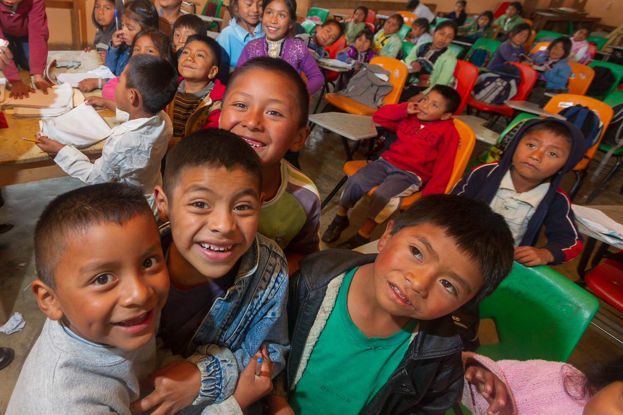 Children in a Classroom in Mexico