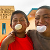 Indigenous Boys Blowing Bubbles