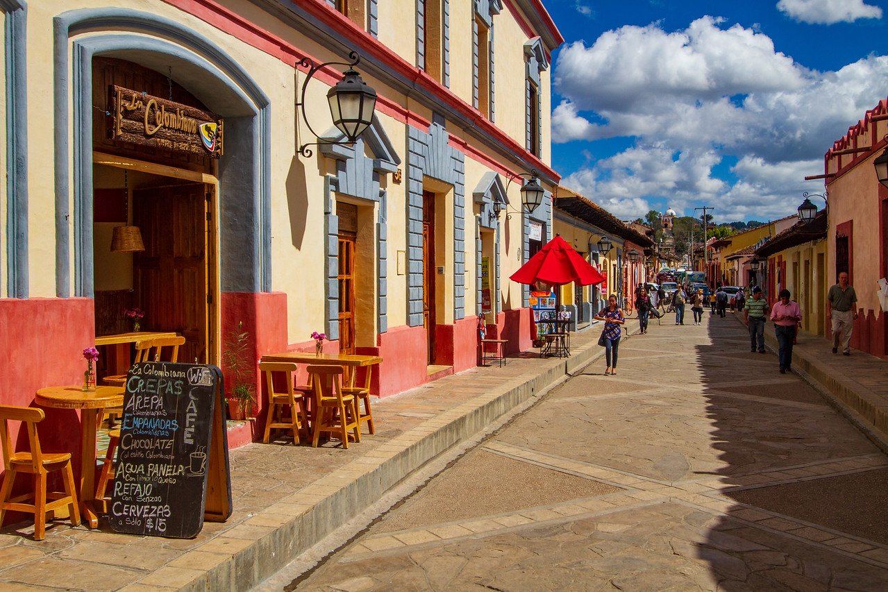 Walking Street in San Cristobal de Las Casas, Mexico