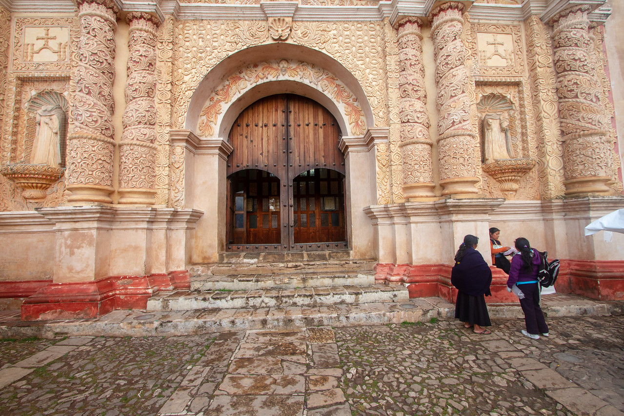 Entrance to Santo Domingo Church in San Cristobal de las Casas Mexico