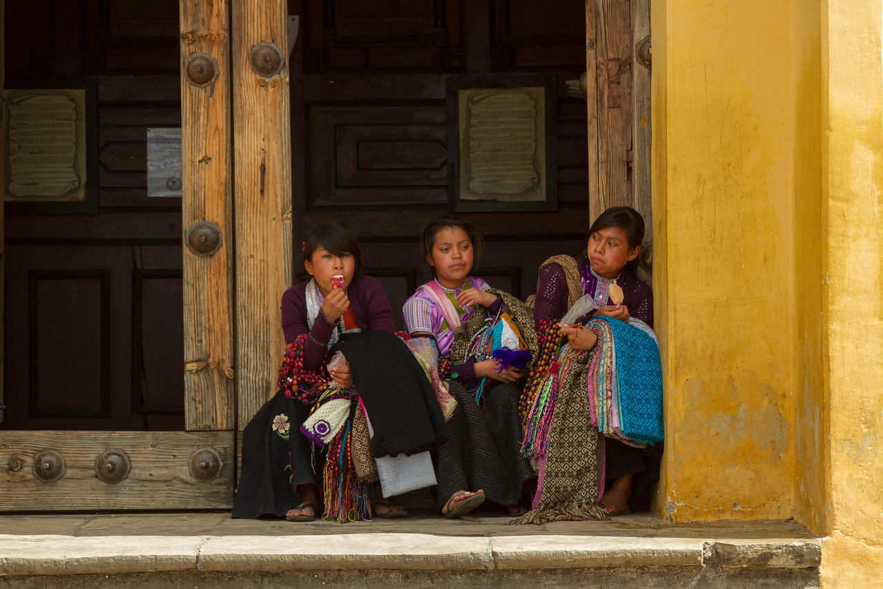 Vendors Taking a Break in San Cristobal de las Casas