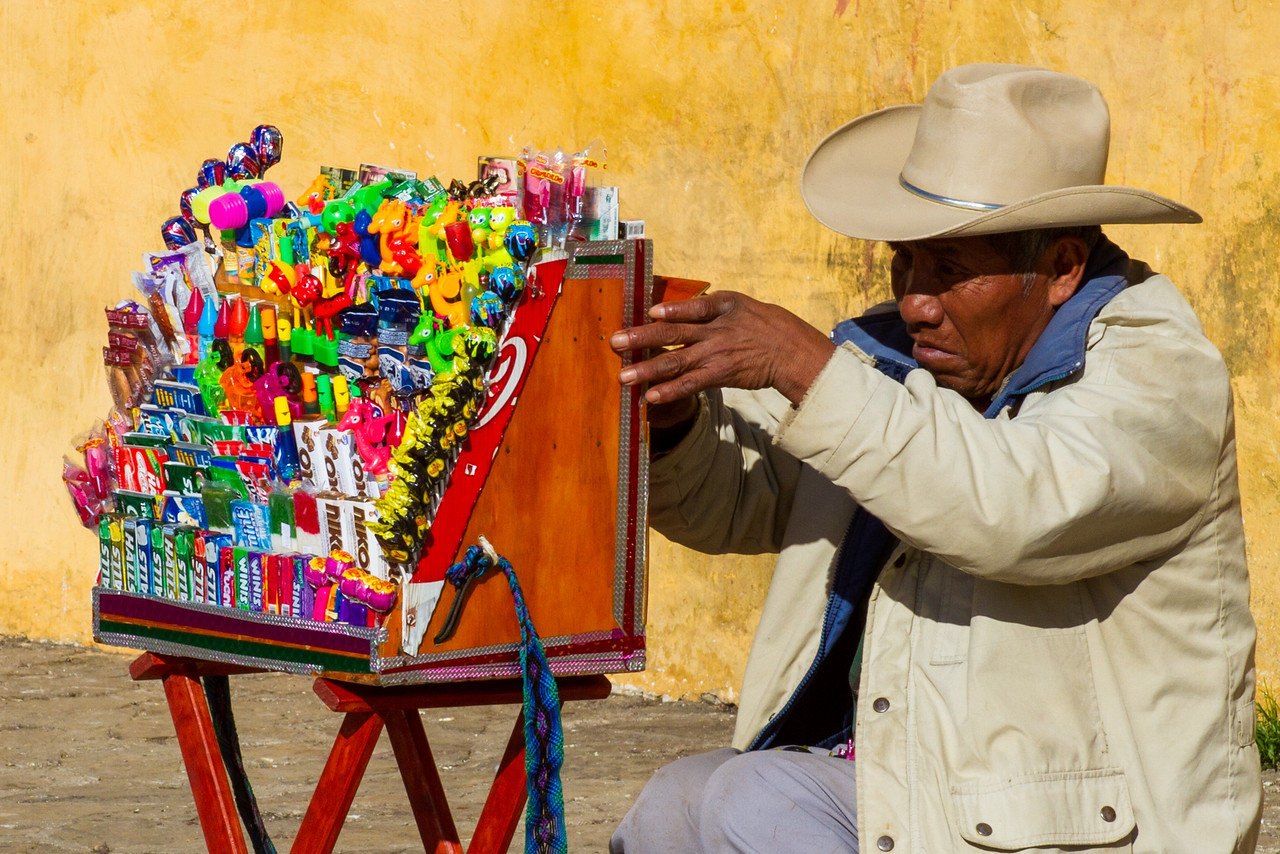 Candy Vendor in San Cristobal de las Casas, Mexico