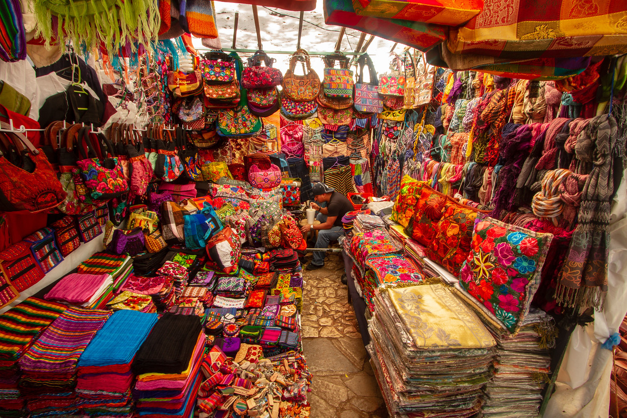 Textiles at the Artisan Market in San Cristobal de las Casas