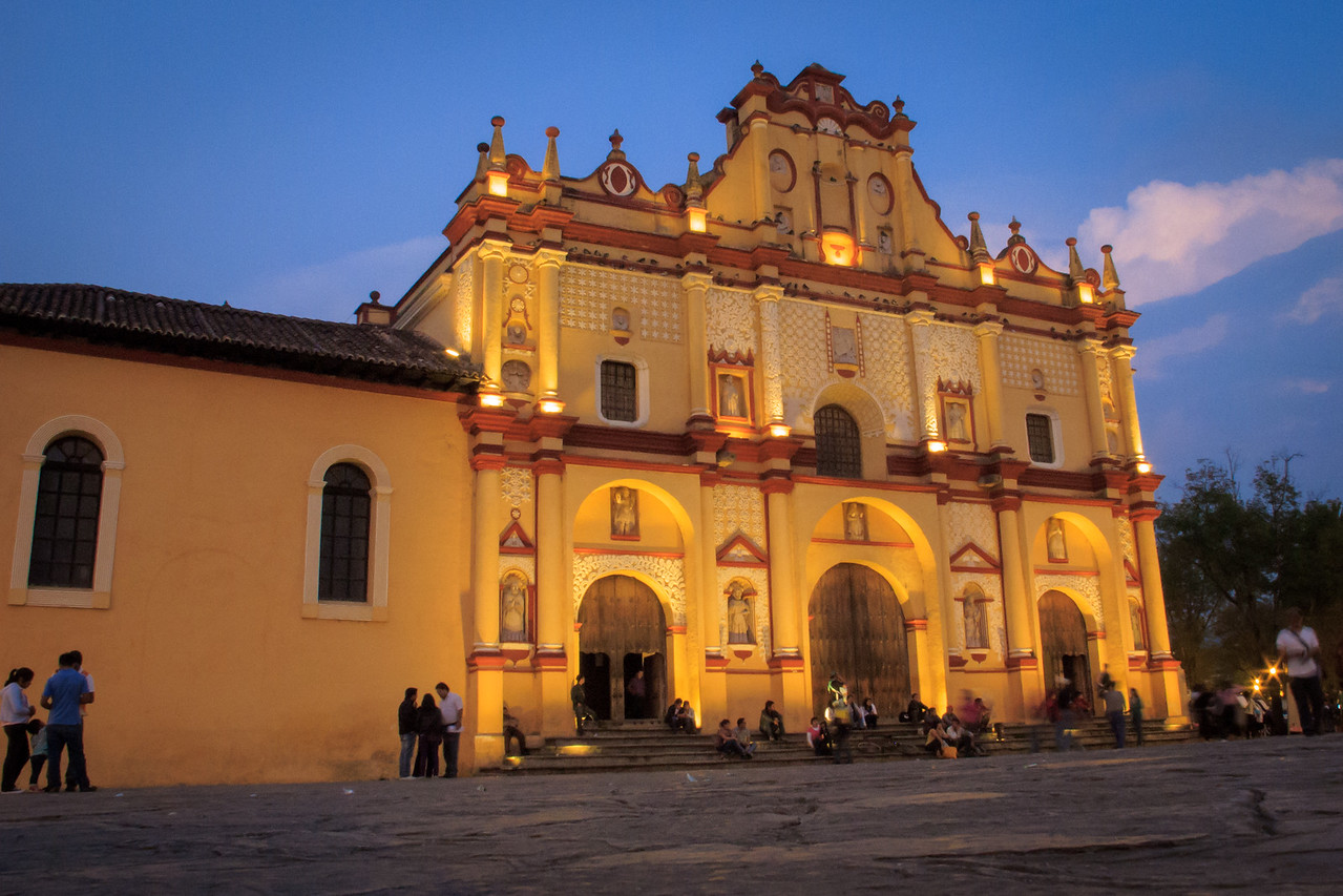Cathedral in San Cristobal de las Casas, Chiapas, Mexico