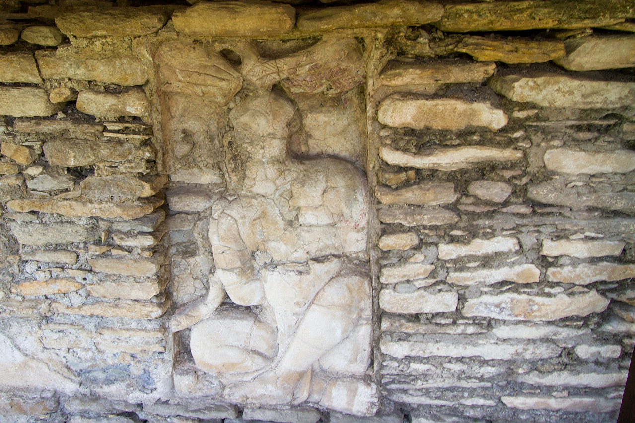 Guardian at the Entrance of the Underworld at the Tonina Mayan Ruin SIte in Chiapas, Mexico