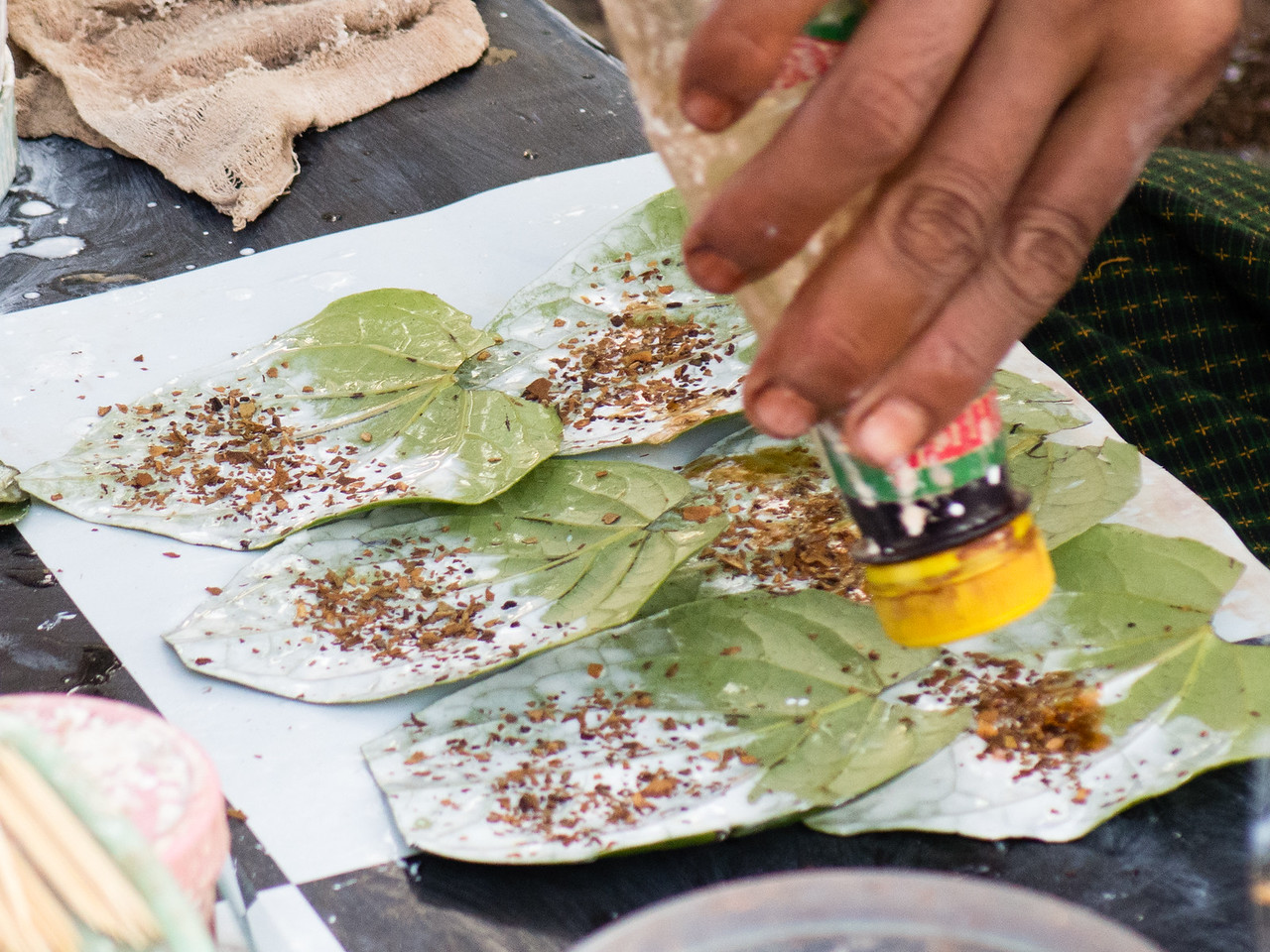Preparing Betel Nut for Chewing