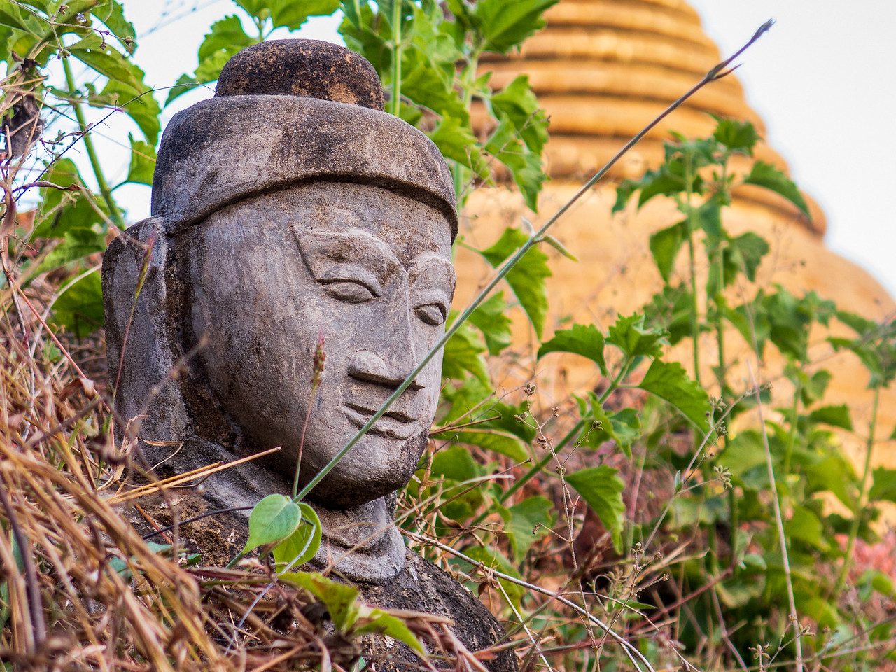 Buddha Outside of a Mrauk U Pagoda