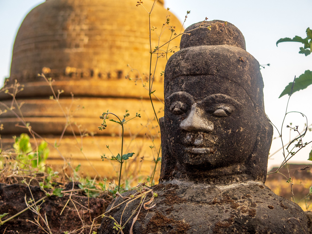 Large Buddha Image in Mrauk U Myanmar