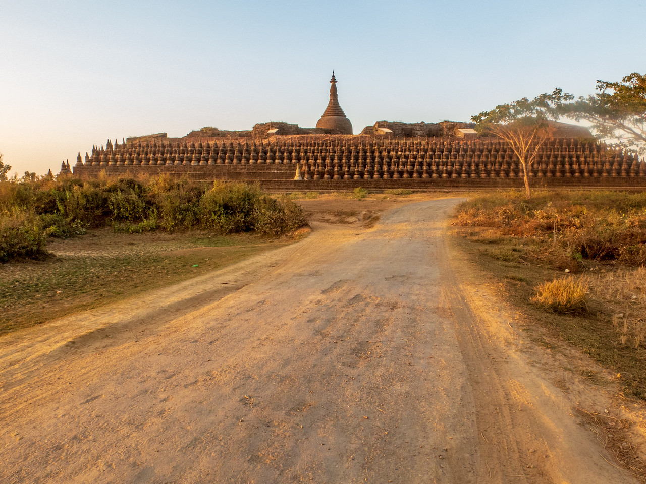 Exterior View of Kothaung Paya Temple in Mrauk OO