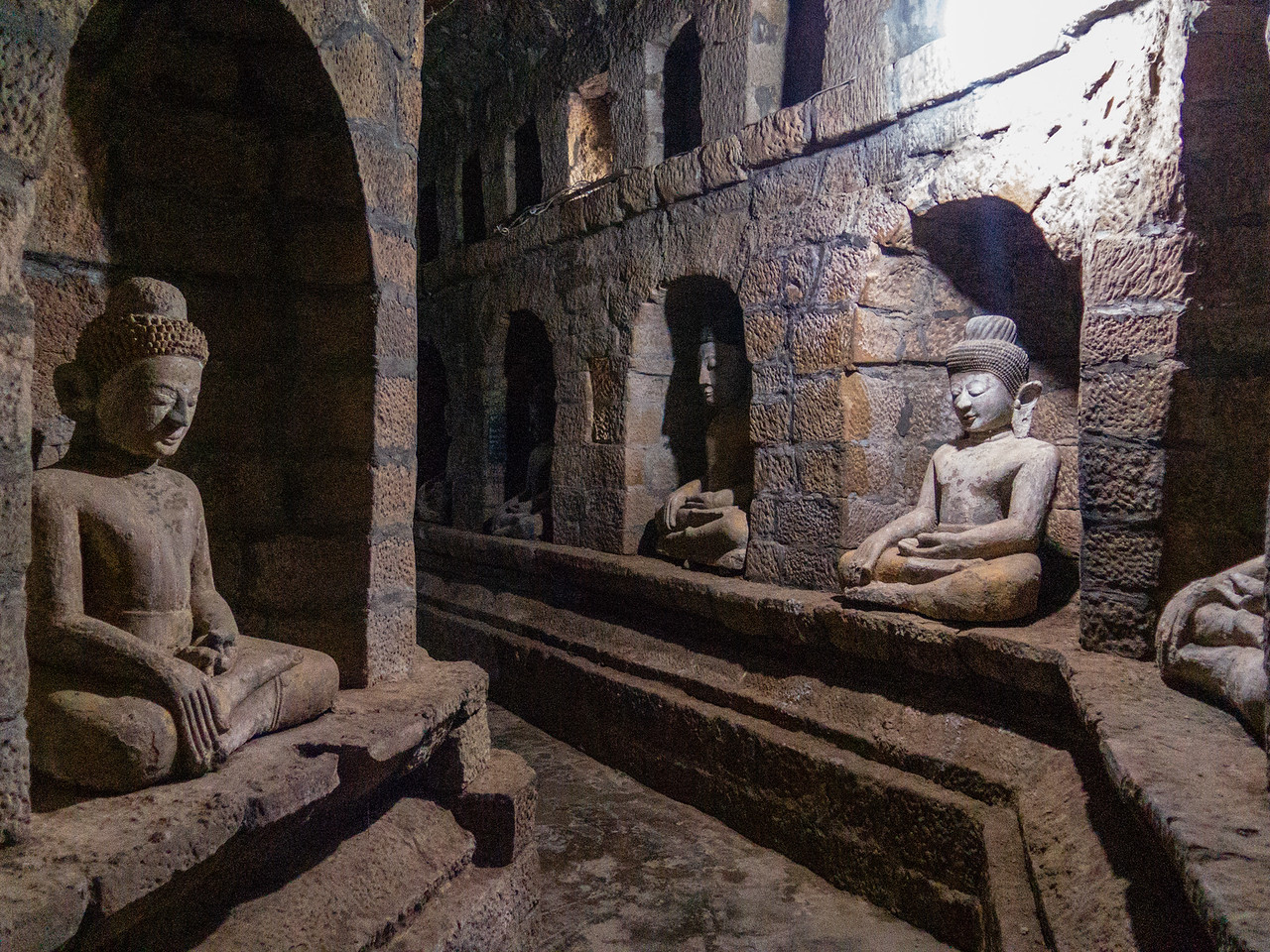 Temple in Mrauk U, Burma