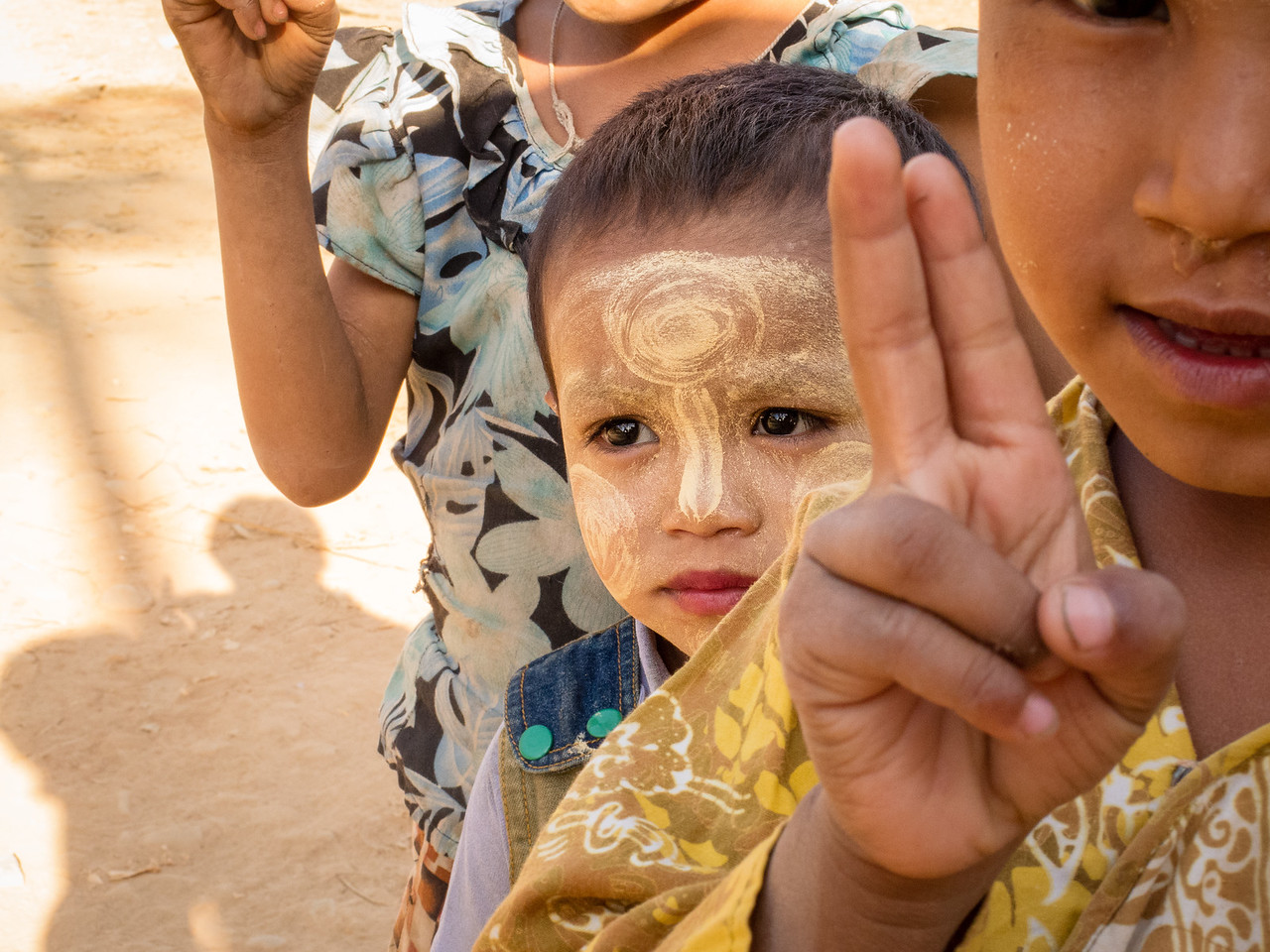 Burmese Child with Thanaka in Myanmar