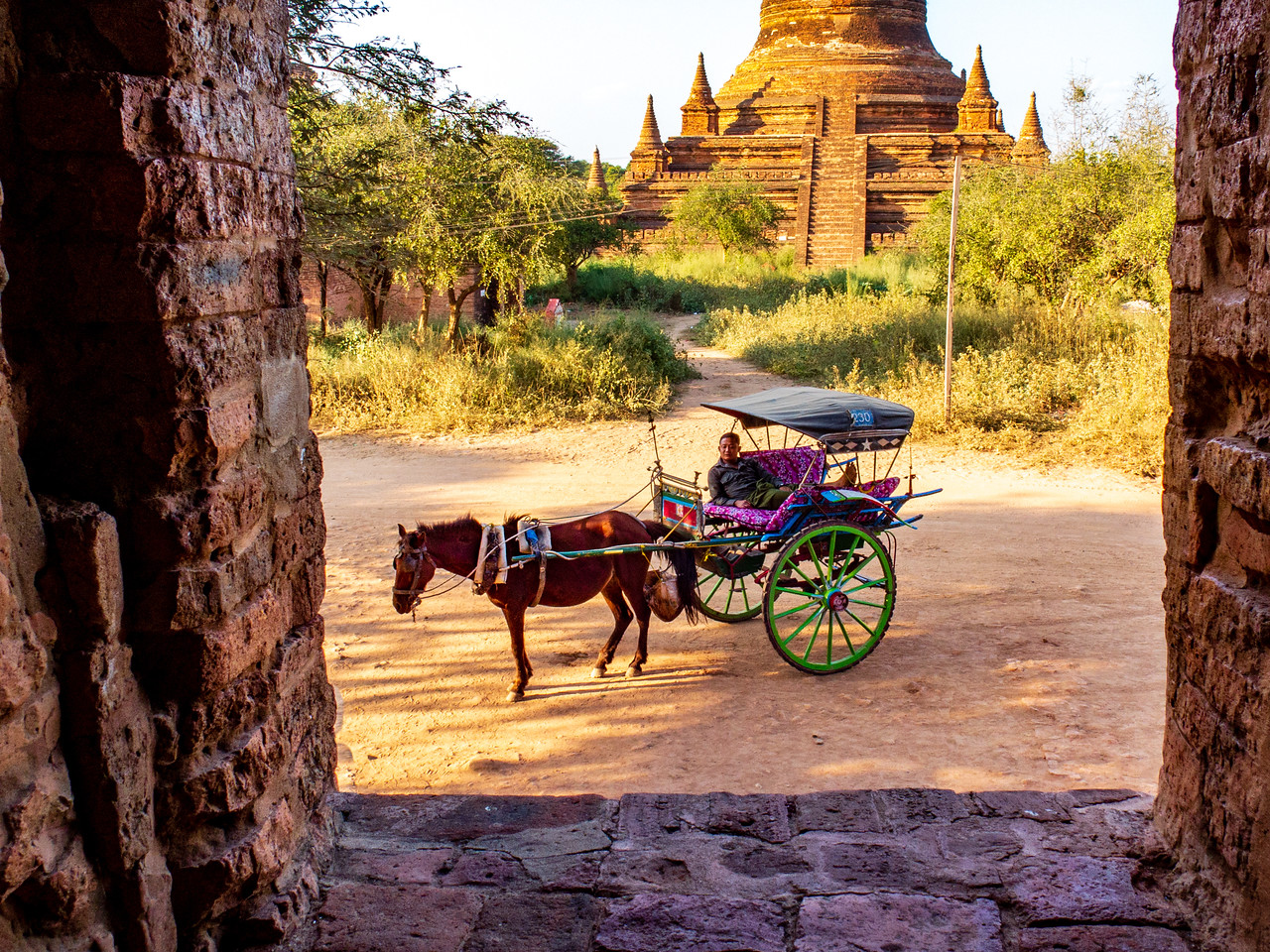 We took a Horse and Buggy to Visit the Temples of Bagan
