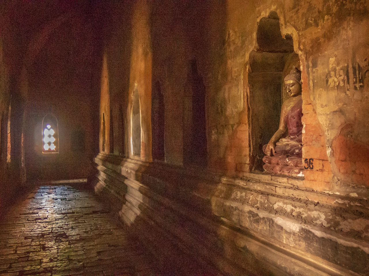Interior of a Temple of Bagan