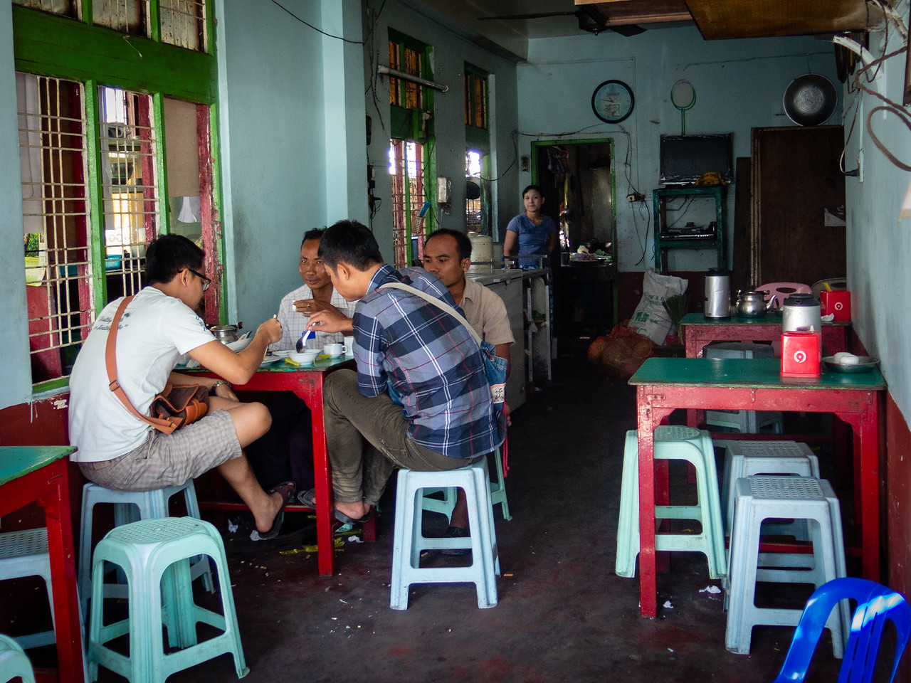 Typical Burmese Tea Shop
