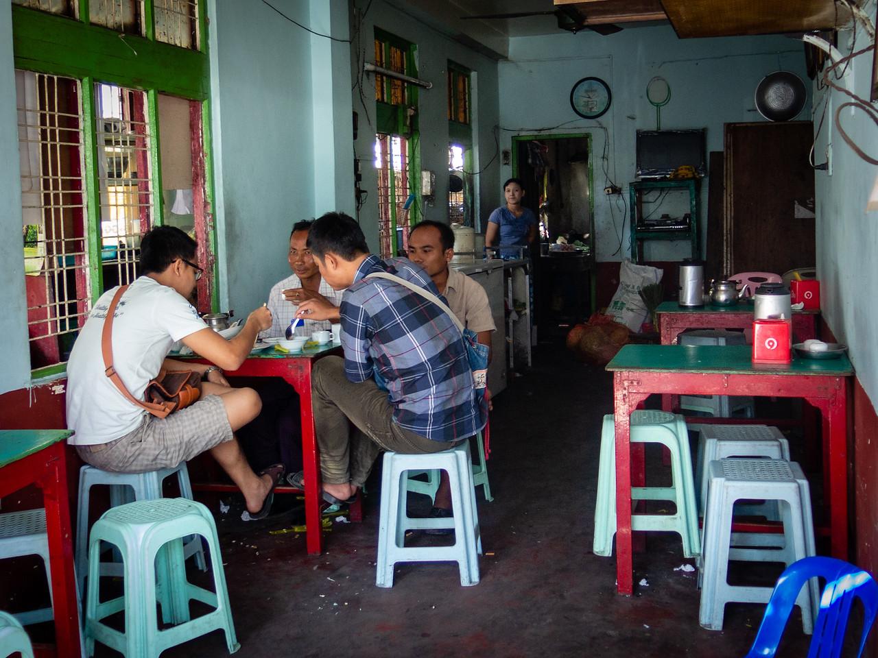 Typical Burmese Tea Shop